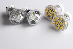 Modern LED bulbs with classic old