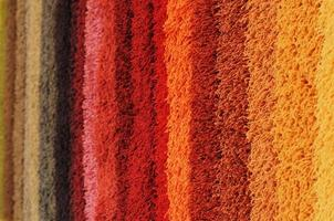 Colored carpet photo