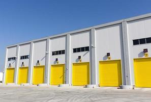 Garage doors of a warehouse