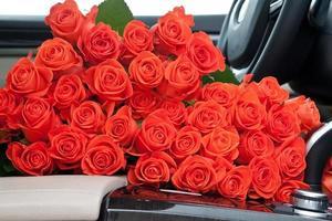 Freshly red roses photo