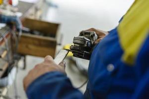 fabrieksarbeider op workshop