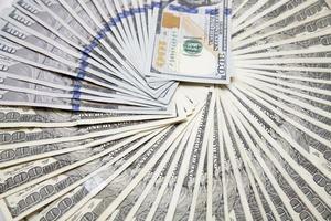 $100 US dollar bills photo