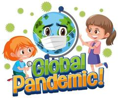 cartel de pandemia global vector