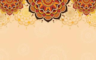 Background design with mandalas in brown color vector