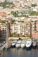 Costa Azul de Mónaco. hermosas vistas de la ciudad foto