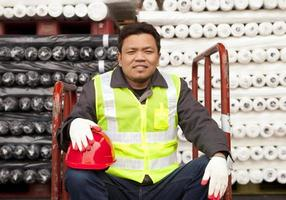 Textile factory worker photo