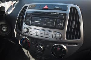 Black interior automobile dashboard