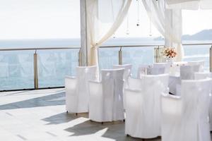 Beautiful luxurious altar decoration photo
