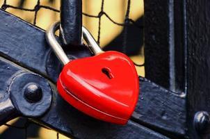 corazón de candado foto