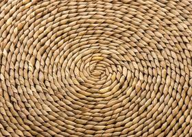 Wicker, Place Mat,Concentric Circular Design photo