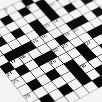 empty scanword puzzle photo
