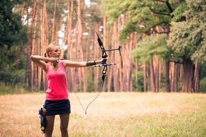 mujer con el arco foto