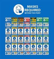 Signs Saying Face Masks Are Required