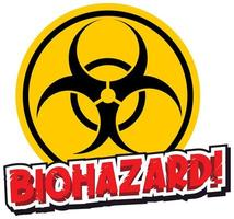 Yellow biohazard sign