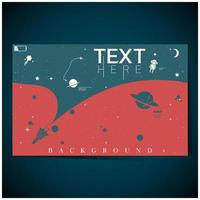 Blue, Red Space Exploration Background vector