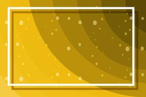 Yellow background with white frame vector