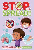 cartaz de prevenção de coronavírus vetor