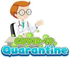 cuarentena por COVID-19 vector