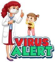 Font design for word virus alert  vector