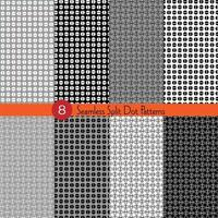 Seamless black white grey split dot patterns vector