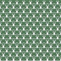 Seamless celtic heart knot pattern on white