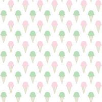 pastel de conos de helado de patrones sin fisuras vector