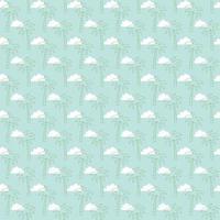 palme e nuvole seamless pattern