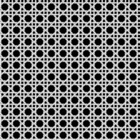 Seamless black and white lattice weave pattern vector