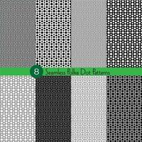 Seamless polka dot pattern collection