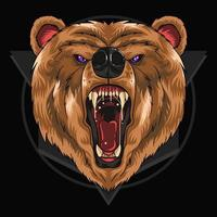 Grizzly bear head design