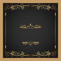 Gold Flourishes and Borders Square Frame vector