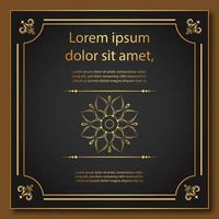 Ornate Golden Frame with Mandala and Borders vector