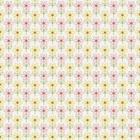 Simple outline flowers seamless pattern vector