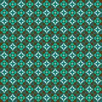 retro blauw en bruin bloemen geometrisch naadloos patroon