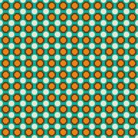 Retro blue and orange geometric seamless pattern
