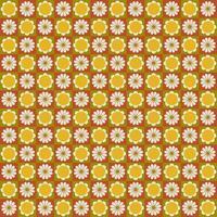 Retro mod daisy seamless pattern