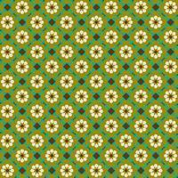 Retro flower tiles seamless pattern vector