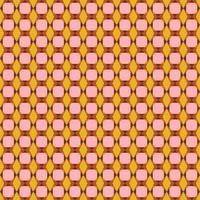 modèle sans couture géométrique rétro rose et orange