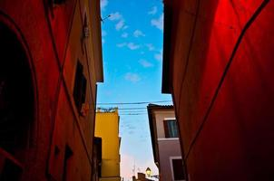 Italian old town (Trastevere in Rome) photo