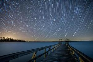 Stars circling over Reelfoot Lake, Tennessee