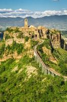 Ancient city on hill in Tuscany