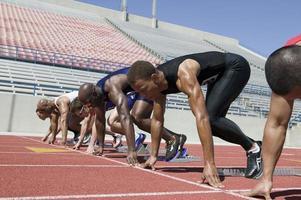 Athletes competing photo