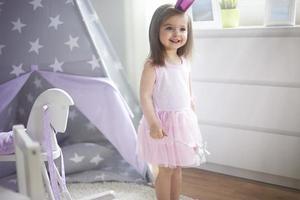 pequeña princesa en su reino foto