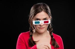 Teenager engrossed in a 3D movie