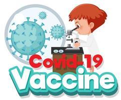 médico coronavirus y célula viral