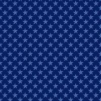 Blue nautical stars seamless pattern vector