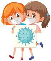 célula de coronavirus a bordo vector