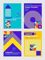 Colorful geometric 2020 business design templates