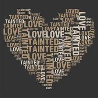 '' amor contaminado '' palabra corazón vector