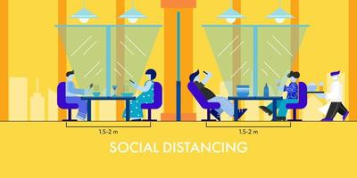 Social distancing at restaurant